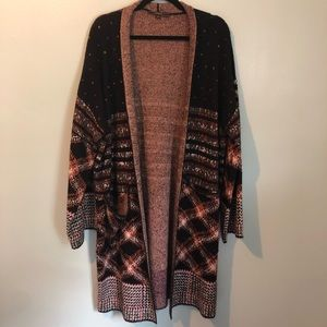 Max Sport Designer Long Thick Multiprint duster